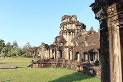 一座古庙的废墟在柬埔寨 图库摄影