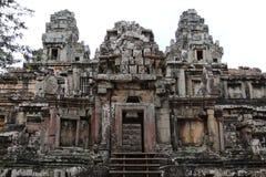 一座古庙的废墟在柬埔寨 库存照片