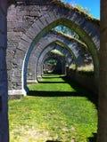 一座古老哥特式城堡 免版税库存照片