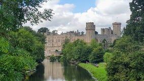 一座古老城堡在英国 库存照片