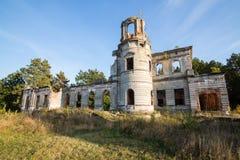 一座古老城堡捷列先科的废墟在Deneshi,乌克兰 19世纪宫殿  库存图片