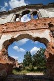 一座古老城堡捷列先科Grod的废墟在Zhitomir,乌克兰 19世纪宫殿  库存图片