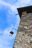 一座古老城堡的塔 库存照片