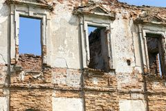 一座古老城堡的废墟 库存图片