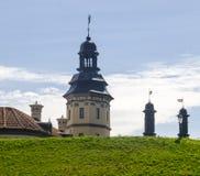 一座古老城堡的老塔 免版税库存图片