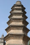 一座古老塔在少林寺,中国 免版税库存照片