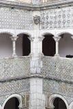 一座城堡的内部在辛特拉 库存照片