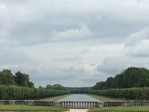 一座城堡的庭院在法国 免版税库存照片