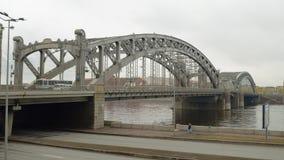 一座大铁桥梁 免版税图库摄影