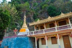 一座小的塔 Hpa-An,缅甸 缅甸 库存图片