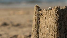 一座小的沙子城堡 库存图片