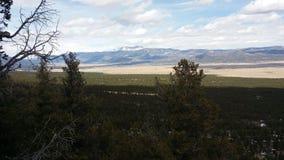 一座山在科罗拉多在春天 免版税库存照片