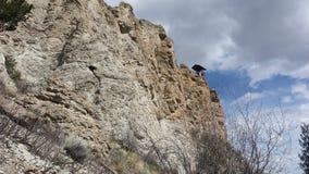一座山在科罗拉多在春天 库存照片