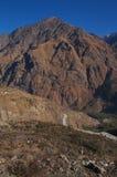 一座山在Joshimath 库存图片