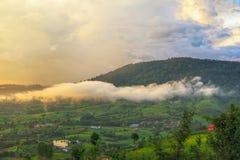 一座山在Petchaboon,泰国 库存照片