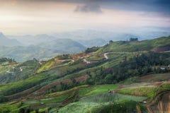 一座山在Petchaboon,泰国 免版税图库摄影