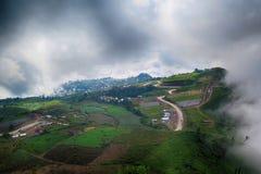 一座山在Petchaboon,泰国 免版税库存照片