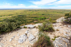从一座山的看法到一个绿色落寞谷里 库存图片