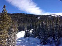 从一座山的顶端一个看法在科罗拉多 免版税库存照片