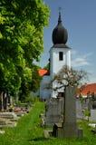 一座平安的公墓 免版税库存照片