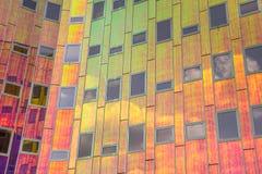 一座当代办公楼的细节在代芬特尔 免版税库存照片