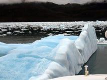 一座惊人的冰河冰川 库存图片