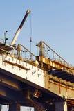 一座新的桥梁的建筑 库存图片