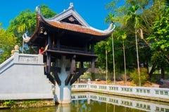 一座柱子塔在河内,越南 免版税图库摄影