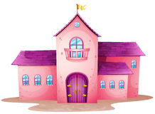 一座桃红色城堡 库存图片
