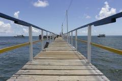 一座桥梁向海洋 免版税库存照片