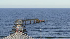 一座桥梁向海01 免版税库存照片