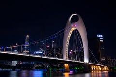 一座桥梁在广州,中国,称德国桥梁 库存照片