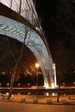 一座桥梁的夜视图在波尔图-葡萄牙 库存图片