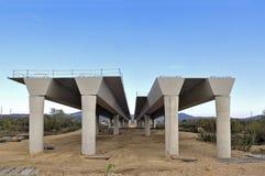 一座桥梁的建筑在的 库存照片