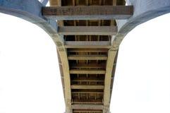 一座桥梁的透视在洛杉矶 库存照片