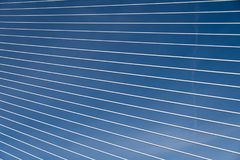 一座桥梁的钢尖端杆在巴伦西亚 库存照片