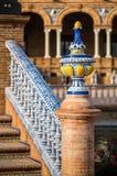 一座桥梁的细节在Plaza De西班牙的 免版税库存图片