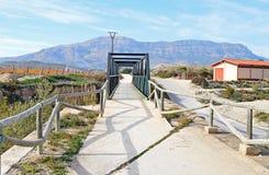 一座步行桥 免版税库存图片