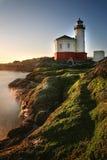 一座灯塔的图象在俄勒冈,美国 免版税图库摄影