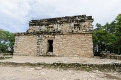 从一座玛雅金字塔的看法在coba,坎昆,墨西哥 库存图片