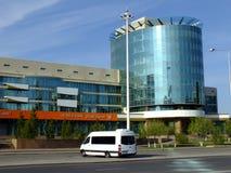 一座现代办公楼在阿斯塔纳 库存照片