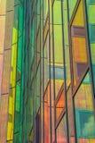 一座现代办公楼的细节在代芬特尔 免版税图库摄影