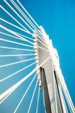 一座现代桥梁的钢细节 免版税库存图片