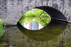 一座石桥梁的拱道 库存照片