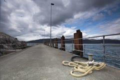 一座空的栈桥的看法 图库摄影