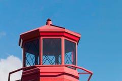 一座红色灯塔 免版税图库摄影