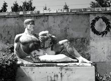 一座纪念碑到斯巴达300 库存照片