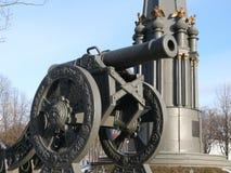 一座纪念碑在波洛茨克广场 免版税图库摄影