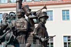 一座纪念碑在皮尔纳在撒克逊人的瑞士 免版税库存图片