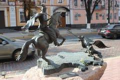 一座美丽的纪念碑在乌克兰 免版税库存照片